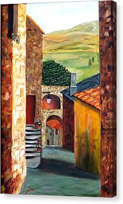 Tuscany Village Canvas Print by Gino Didio