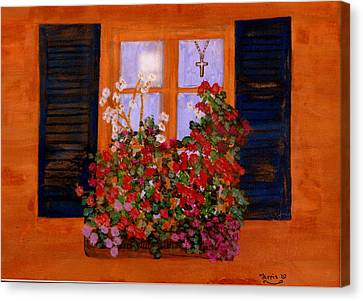 Tuscany Window Box Canvas Print