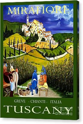 Tuscany Wine Poster Art Print Canvas Print