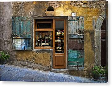 Tuscan Canvas Print - Tuscany Wine Shop by Al Hurley