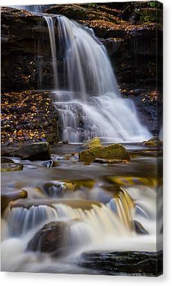 Tuscarora Falls At Ricketts Glen In Autumn Canvas Print