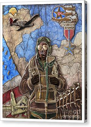 Tuskegee Airman Canvas Print by Anthony High