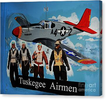 Tuskegee Airmen Canvas Print by Leon Hollins III