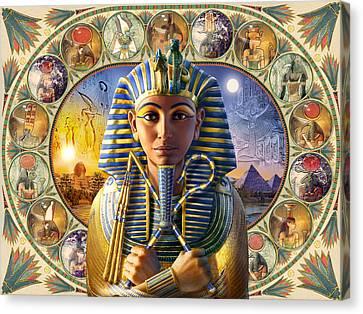 Pharaoh Canvas Print - Tutankhamun Landscape by Andrew Farley