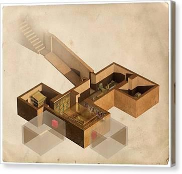 Pharaoh Canvas Print - Tutankhamun's Tomb by Claus Lunau