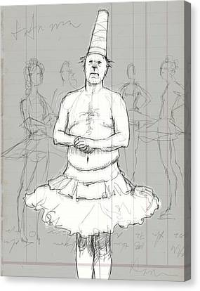 Tutu Man Canvas Print by H James Hoff