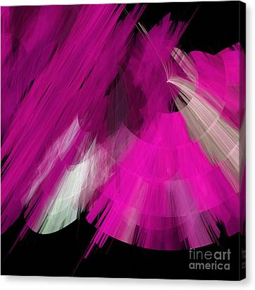 Tutu Stage Left Abstract Fuchsia Canvas Print by Andee Design