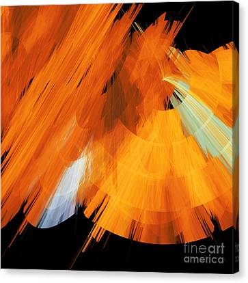 Tutu Stage Left Abstract Orange Canvas Print by Andee Design