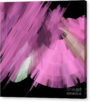 Tutu Stage Left Abstract Pink Canvas Print by Andee Design