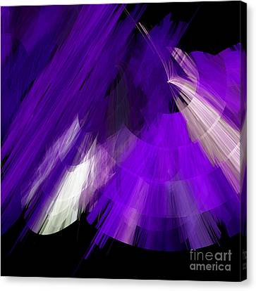 Tutu Stage Left Abstract Purple Canvas Print by Andee Design