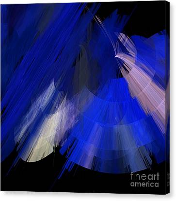 Tutu Stage Left Blue Abstract Canvas Print by Andee Design