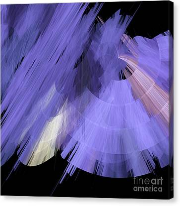 Tutu Stage Left Periwinkle Abstract Canvas Print by Andee Design