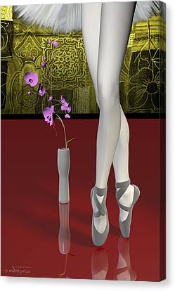 Tutu To Toe Shoes - Red Canvas Print by Andre Price