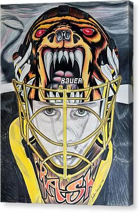 Boston Bruins Canvas Print - Tuukka Time by Jennifer Urciuolo