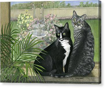 Tuxedo And Tabby Canvas Print