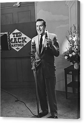Tv Personality Ted Mack Canvas Print by Underwood Archives