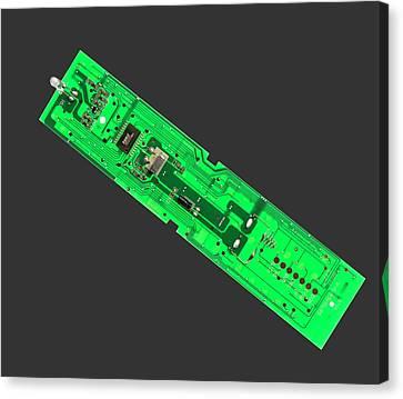 Tv Remote Control Printed Circuit Boar Canvas Print
