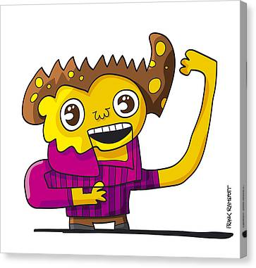 Tv Show Presenter Doodle Character Canvas Print by Frank Ramspott