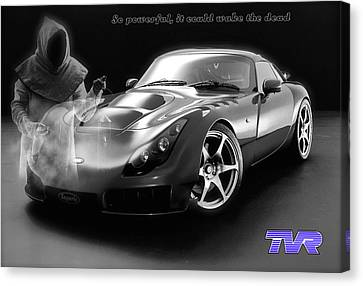Tvr - Waking The Dead Canvas Print by ISAW Gallery
