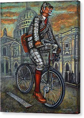 Canvas Print featuring the painting Tweed Run In Grey Passing St Pauls London  by Mark Howard Jones