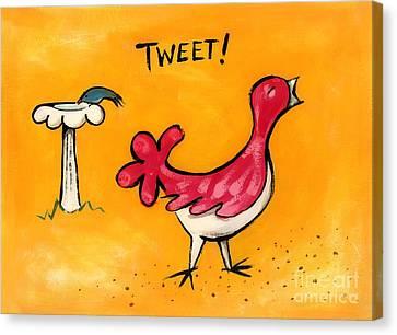 Tweet Canvas Print by Diane Smith