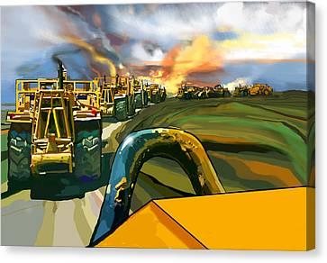 Twelve Scrapers Canvas Print by Brad Burns