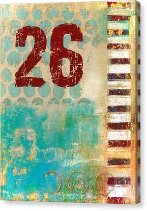 Twenty-six Stripes Canvas Print by Carol Leigh