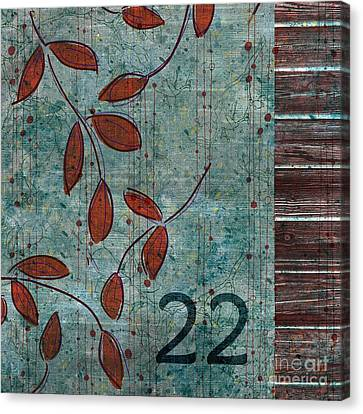 Twenty-two - Dc0102 Canvas Print by Variance Collections