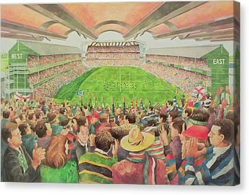 Twickenham The Pilkington Cup Final, 1992 Wc Canvas Print by Gareth Lloyd Ball