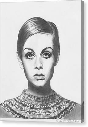 Twiggy - Pencil Canvas Print by Alexander Gilbert