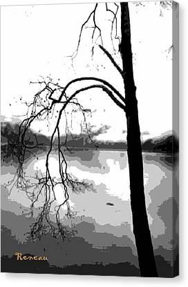 Twiggy Abstract Canvas Print by Sadie Reneau
