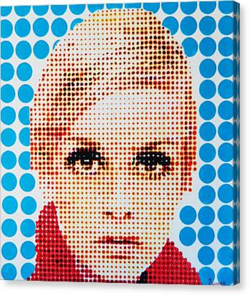 Twiggy Blue Dot  Canvas Print