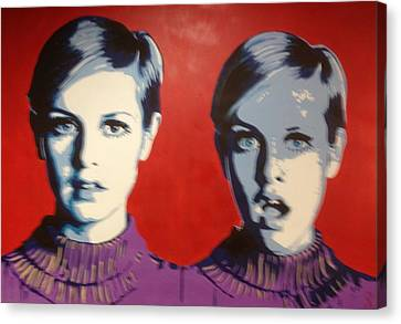 Twiggy Two Face Canvas Print