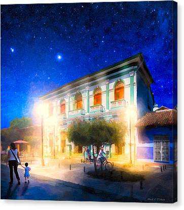 Gold Star Mother Canvas Print - Twilight And The Streets Of Granada by Mark E Tisdale