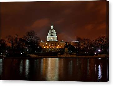 Twilight At The Capitol Canvas Print