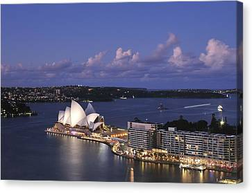 Twilight At The Opera House And Sydney Harbour Canvas Print