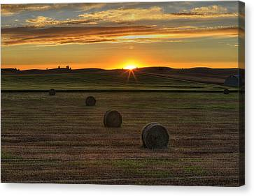 Twilight Bales Canvas Print