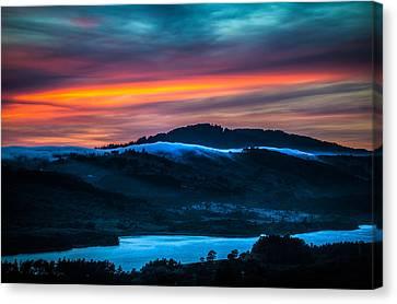 Twilight Crawling Fog Canvas Print by Mike Lee