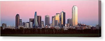 Twilight, Dallas, Texas, Usa Canvas Print by Panoramic Images