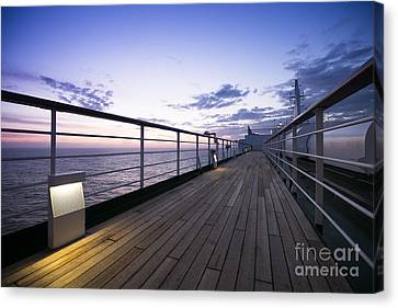 Twilight Deck Canvas Print by Anne Gilbert