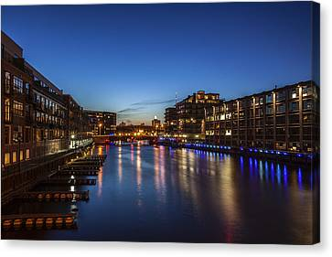 Twilight Docks Canvas Print by CJ Schmit