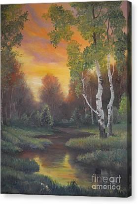 Twilight Fall  Canvas Print by Sorin Apostolescu