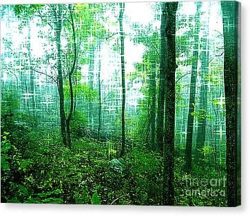 Twilight Forest Canvas Print by Lorraine Heath