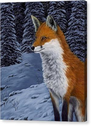 Twilight Hunter Canvas Print by Rick Bainbridge