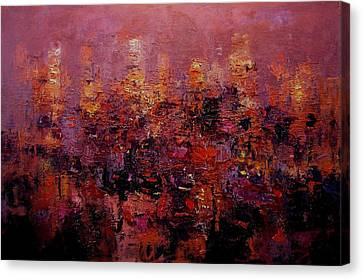 Twilight In L A Canvas Print by R W Goetting