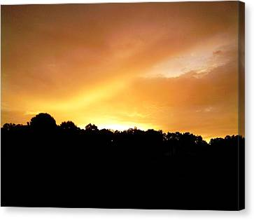 Twilight In Orange Canvas Print by Carlee Ojeda