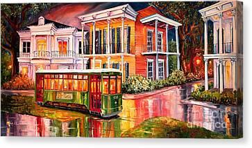 Twilight In The Garden District Canvas Print by Diane Millsap