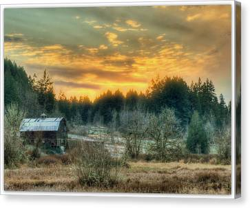 Twilight In The Valley Canvas Print by Jeff Cook
