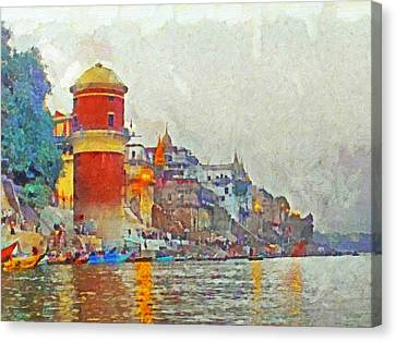 Twilight In Varanasi Canvas Print