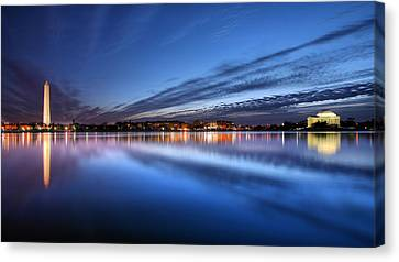 The White House Canvas Print - Twilight  by JC Findley